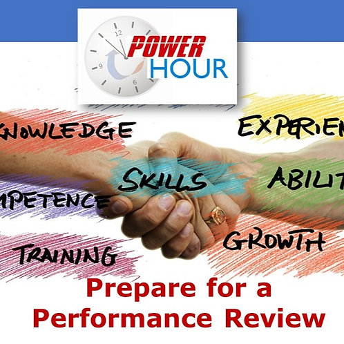 Prepare for a Performance Review - Virtual Session