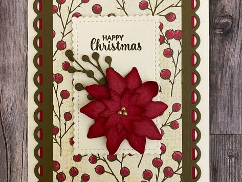 Poinsettia Card Kits