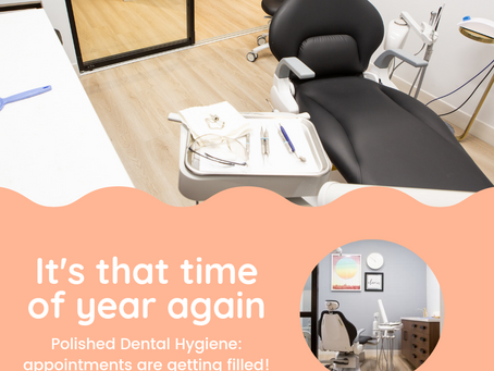 Book dental hygiene appointments in advance