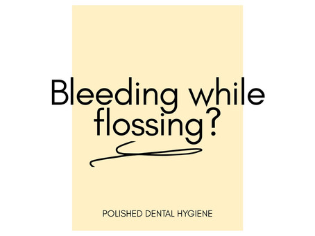 Do your gums bleed while flossing?