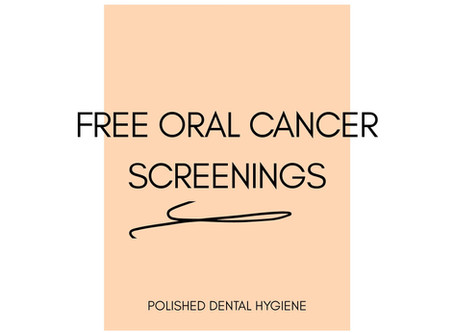 Oral cancer screening at Polished Dental Hygiene