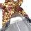 Thumbnail: アンティーク・ローズ柄/デニムのロンパース