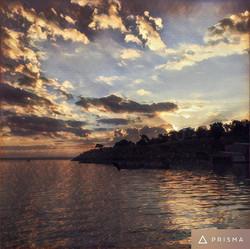 Beautiful Sunrise over lake Texoma