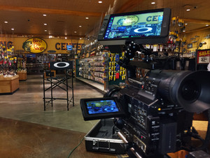 On loation at Bass Pro Shops