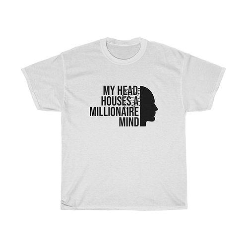 Millionaire Mind Black Lettering - Unisex Tee