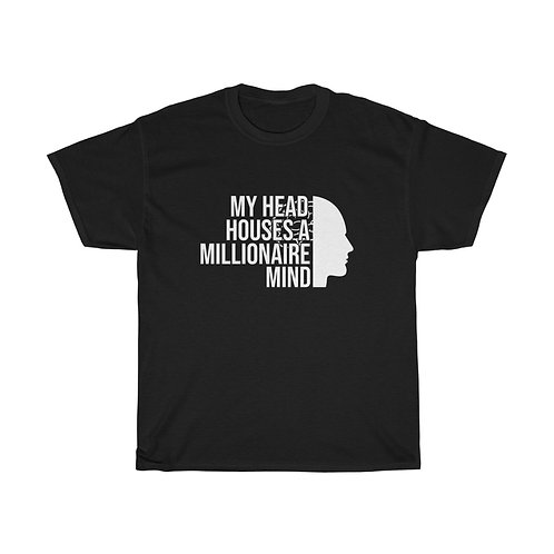 Millionaire Mind White Lettering - Unisex Tee