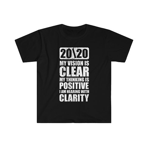 Men's Fitted Short Sleeve Tee 20/20 Clear