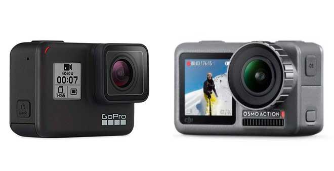 ¿Cuál es la mejor cámara de acción, la Osmo Action Pocket o la GoPro Hero 7 Black?
