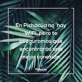 En playa Pichacúa la isla, no hay wifi p