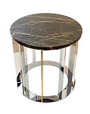 coffee table Scotty, round table, marble top,