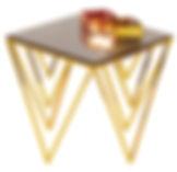 side table, coffee table, golden, cooper, chromium, SHEVRON