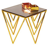 side table, coffee table, golden, cooper, chromium, SHEVRON