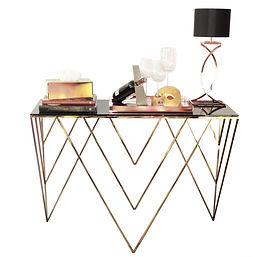 Console, night table, coffee table, side tabl, modern , design, valevsky, metal furniture, golden, cooper, chromium, stainesssteel