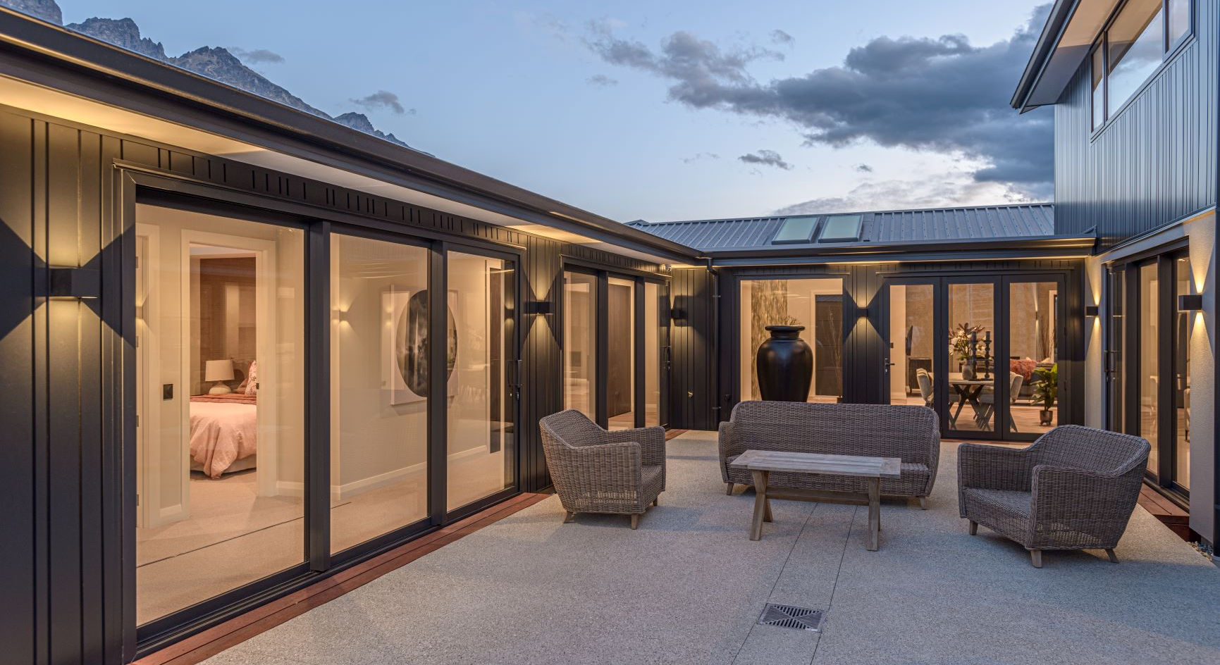 RNP Homes display home courtyard