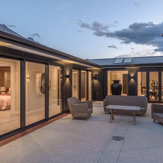 RNP Homes display home courtyard