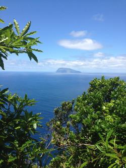 l'île Corvo vue depuis Flores