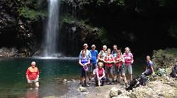 la cascade à Caldeirão Verde