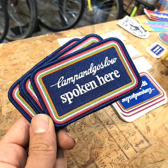 """CAMP AND GO SLOW """"SPOKEN HERE PATCH"""""""