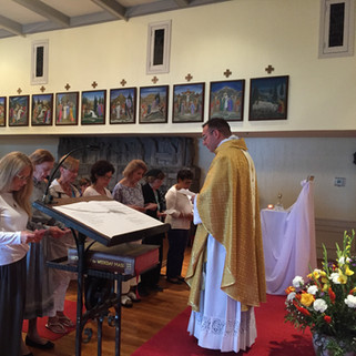 July Oblates renewing their promises