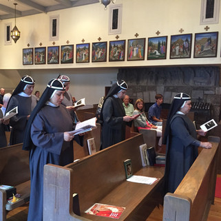 July 23 Sisters renewing their vows on the feast of St. Birgitta