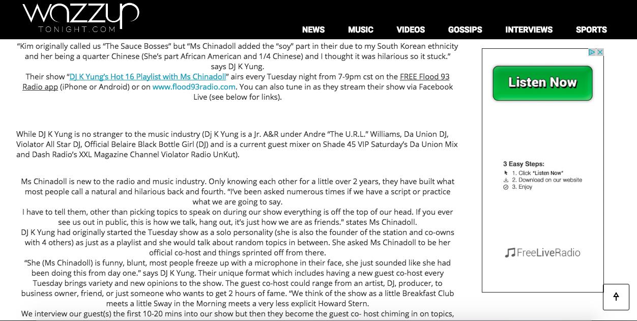 Wazzup Tonight (Page 2 of 3)- http://wazzuptonight.com/newest-female-duo-hit-internet-radio/