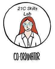 Illustration of a 21C Skills Lab Coordinator in the Edternship Programme