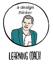 Illustration of a design thinker to represent the Learning Coach of the Edternship Programme