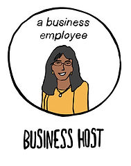 Illustration of a business employee to represent the Business host persona of the Edternships Programme