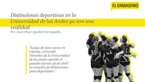 Distinciones deportivas en la Universidad de los Andes ya son una realidad