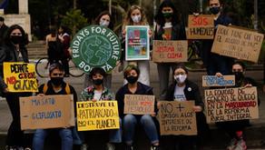 En medio de arte, performances y pedagogía, transcurrió el plantón por el medio ambiente en Bogotá