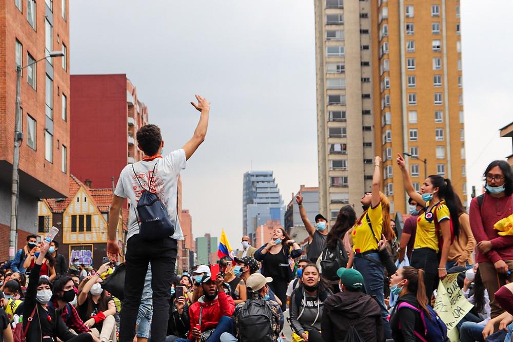 Marchantes universitarios en Bogotá 05/05/2021