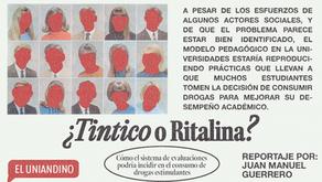 ¿Tintico o Ritalina?: cómo el sistema de evaluaciones incide en el consumo de drogas estimulantes