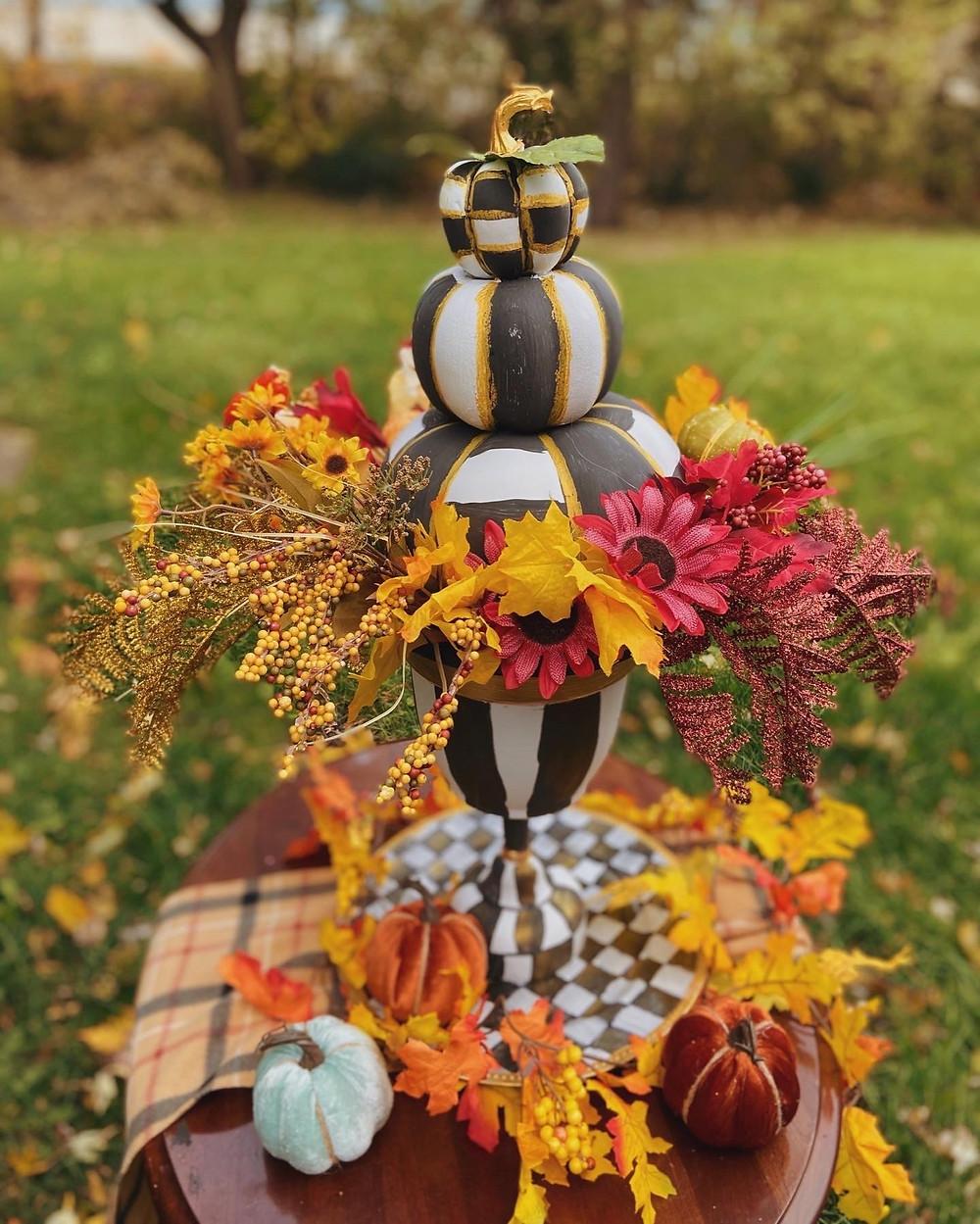 Mackenzie Childs Inspired Pumpkin Topiary