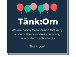 Acty receives Tänk:Om scholarship