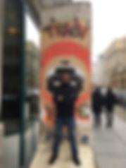 Urban art intervention in a segment of the Berlin Wall.  Berlin, Germany.