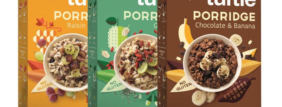 Selection of 3 organic porridges GLUTEN FREE
