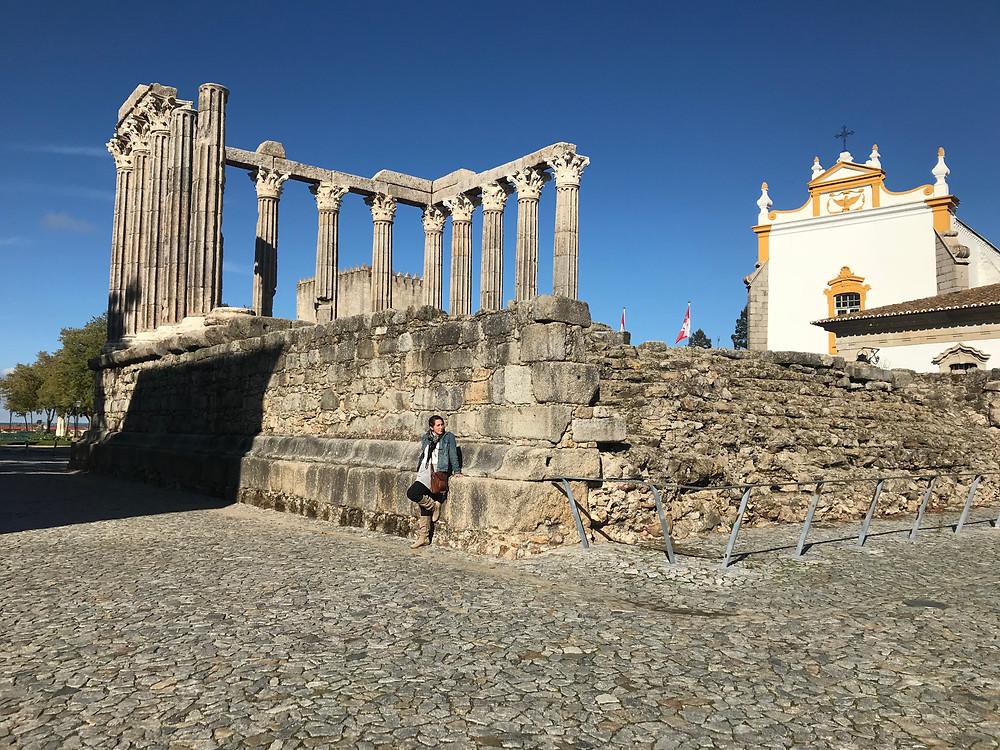 Roman Temple of Diana in Evora Portugal
