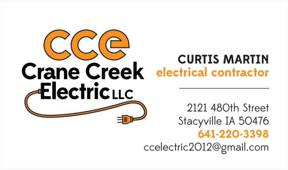 Crane Creek Business Card Front