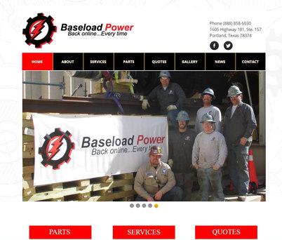 Baseload website build.