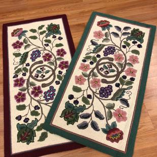 Floral Wool Hooked Rugs