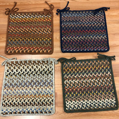 Braided Square Chair Pads