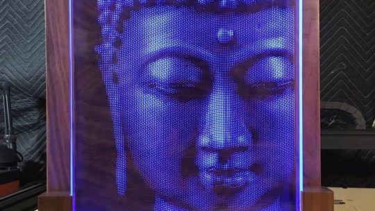 Illuminated Buddha - Wall Hangning