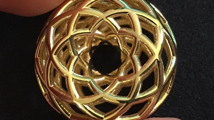 Double Torus in 18k gold plated steel