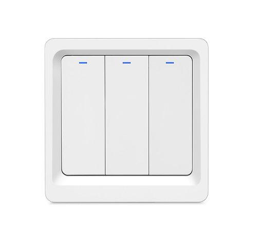 EU Key Button Switch 3 Gang