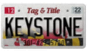 Keystone Tag & Title license plate.png