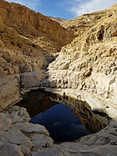 A dramatic canyon with pools that fill after heavy rains