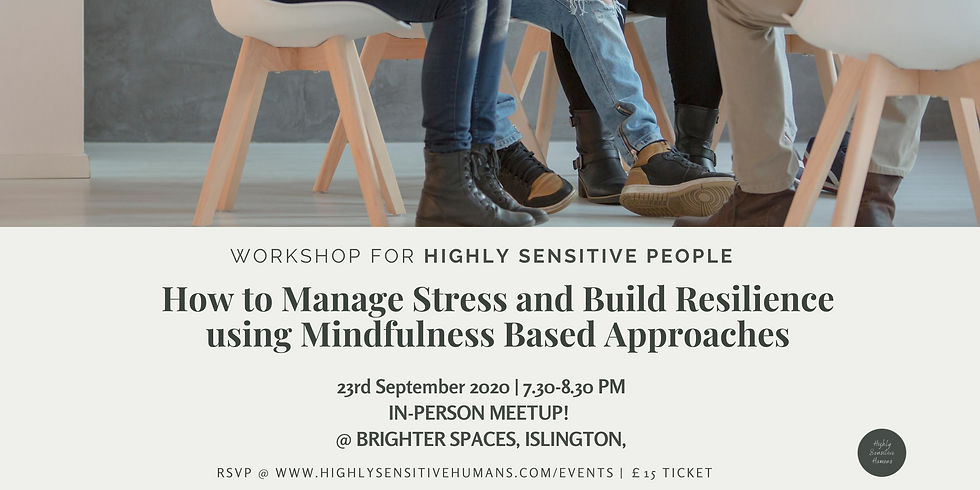 London in-person event! How to Manage Stress and Build Resilience