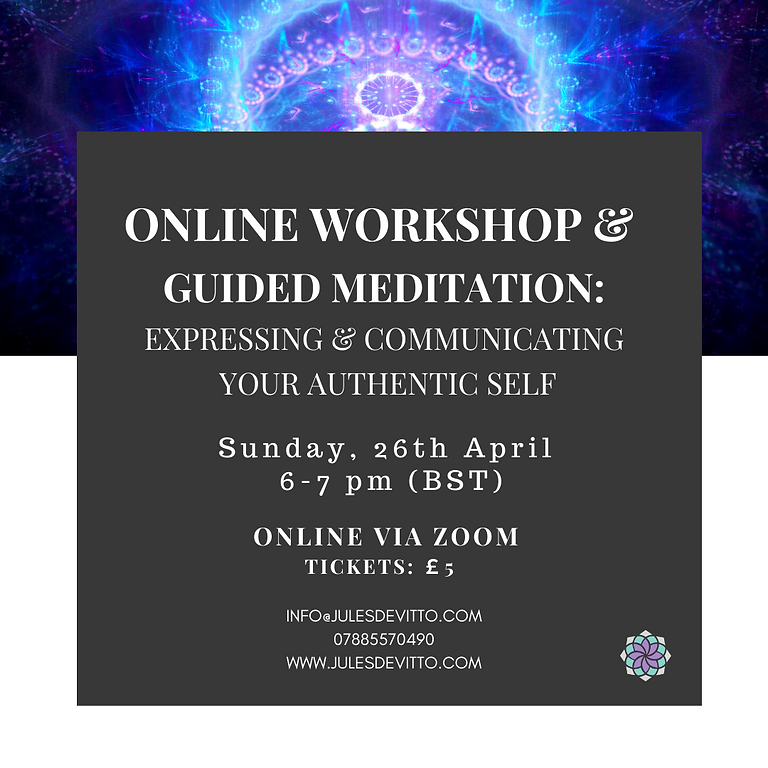 Online Workshop: Expressing & Communicating your Authentic Self