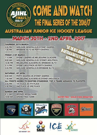 AJIHL FINALS - IN ADELAIDE MARCH 2017