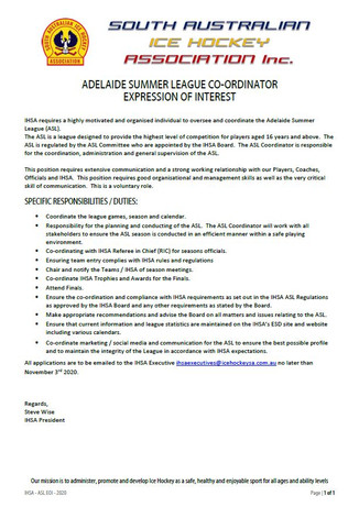 ASL CO-ORDINATOR 2020